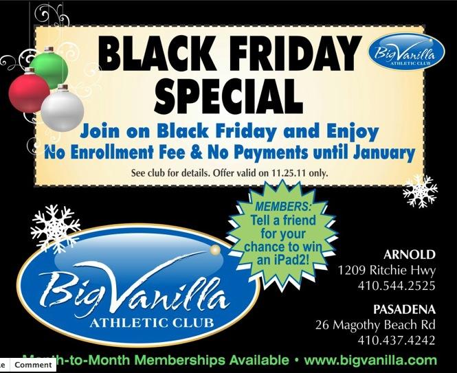 Big Vanilla Black Friday Special